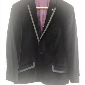 Rock & Republic men's crushed velvet black blazer